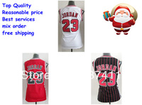 Women jerseys Chicago 23 Michael Jordan white red  black red stripes jersey Basketball  jersey jodans for women shorts cheap