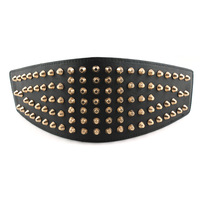 Fashion fashion rivet decoration cummerbund women's vintage elastic wide belt black women's all-match cummerbund