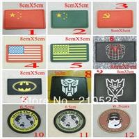 Outdoor TAD jacket magic velcro badge backpack epaulette national flag velcro armband PVC sticker free shipping