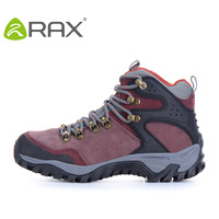 Rax autumn and winter cowhide hiking shoes waterproof outdoor shoes slip-resistant female thermal women's shoes sports shoes