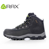 Double rax waterproof hiking shoes male outdoor shoes slip-resistant wear-resistant first layer of cowhide walking shoes sport