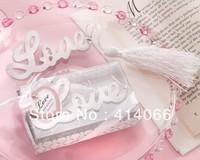 12pcs/lot Free Shipping LOVE Shape Promotion Antique Silver Fashion Bookmarks Wholesale