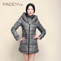 2013 sweet with a hood down coat medium-long female