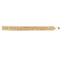 11197 three rows of diamond crystal clip side-knotted clip hairpin hair accessory hair accessory hair pin big bow