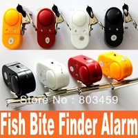 Practical Electronic Fishing tools Fish Bite Finder Alarm LED Light Bell Clip Fishing Rod Russia preferential Free Shipping