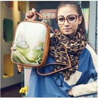 girl cute pu leather backpack,multifunctional cartoon printing school bag,4 pattern design shoulder bag,outdoor handbag/434
