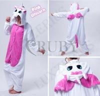Fashion Christmas Costumes Pajamas All in One Pyjama Animal suit Cosplay Adult Garment Flannel Pink Unicorn Cartoon Onesies