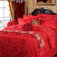 Tangjiahe piece set sistance 100% bedding cotton satin 100% jacquard cotton quilt bed sheets