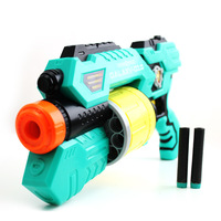 Free Shipping 10 Sets Mini Blue Non-electric Semi-automatic Children's Toy Guns Safety Contest  Kids Soft Bullets Shooting