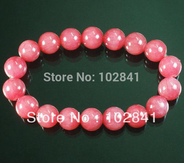 Rosa tibetano Red Gemstone Bead budista Mala Pulseira WZ214(China (Mainland))