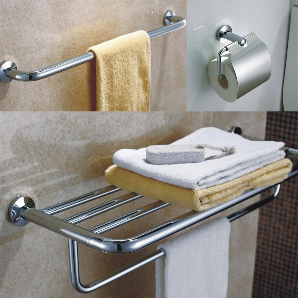 Accesorios De Baño De Acero Inoxidable:de baño Set 3 unids/pack incluye la barra de toalla estante soporte