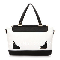 new arrival fashion banquet bags 2013 women's genuine leather color block vintage handbags