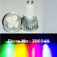 High power 4x1W GU10 Led Light Lamp Spotlight led bulb,red/blue/green/yellow/white color