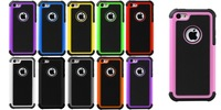 Heavy Duty Hybrid Tough Rugged Stand Silicone Rubber Hard Case Cover  for iPhone 5C,Free Shipping+Retail