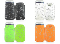 Diamond Maple Design Pull Tab Leather Case Cover for Samsung Galaxy S4 i9500,Free Shipping+10Colors