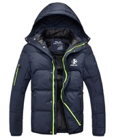 2013 new brand Winter rlx men's cotton down jacket with a hood cotton-padded jacket thickening wadded wool coat