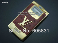 Hot sale luxury V8 cell phone NEW Limited Edition CEO GOLD Unlocked Mobile PHONE leather metal Dual SIM Russian Free shipping