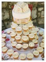4 tier round maypole acrylic cupcake stand, 4 tier round perspex wedding cake stand, acrylic maypole cake stand / cupcake stand