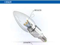 Free shipping 3W LED candle light Samsung 5630,  E14/E27 AC90-265V 10pcs/lot