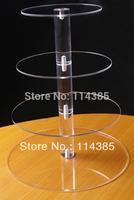 4 tier round maypole acrylic cupcake stand, acrylic maypole wedding cake stand / cupcake stand