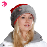 Free Shipping Fox autumn and winter hat women's plus velvet thickening warm hat knitted hat fashion knitted hat 0681