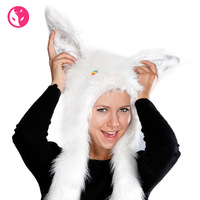 Free Shipping Fox winter skiing Women plush rabbit style hat thermal windproof hat 1422