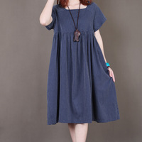 2013 summer dot loose women's plus size casual short-sleeve summer one-piece dress