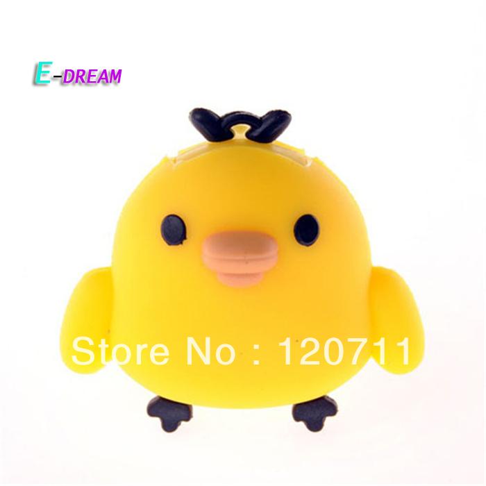 E-DREAM Wholesale cheap cartoon chicken usb flash 4-32GB USB Flash Drive U disk U disco Pen drive birthday Personality Gift(China (Mainland))