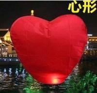 Cheap Sky Fire Khoom Fay Kong Ming Flying Heart Wishing Lanterns Balloon Birthday Christmas Wedding Party Lamp