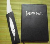Free Shipping Death Note Notebook Notebooks & Feather Ballpen Cosplay In Stock Special Gift For Christamas