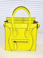 2013 women's handbag messenger bag genuine leather smiley bag Medium Small handbag female bag women bag