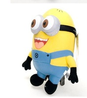 Free Shipping High Quality Despicable ME Movie Plush Toy 10 inch 25cm Minion 3D eye Jorge Stewart Dave baby educational toys