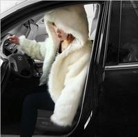 2013 autumn and winter hat short design fur coat female