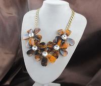 Minimum Order $20 (mixed order)   tortoise flower necklace crystal statement necklace
