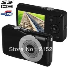 Portable 2.7″ LCD Screen Digital camera, 15.0MP Sensor 5X Optical zoom 720P & 30FPS mini card camera, HD 720P digital camera