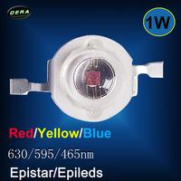 Plant grow 60pcs High Power Red Yellow Blue 1W LED SMD Light Chip Energy Saving Lamp Beads Bulbs For DIY Cabinet/Tank/Aquarium