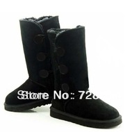 2013 Free Shipping  New Arrival Fashion Popular Fashion 1873  Style Black  Color  three Buttons Snow boots Winter Warm Shoes 407