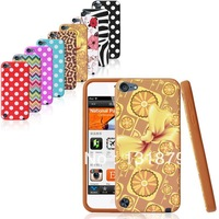 Luxury Polka Dot Leopard Zebra Flower Pattern Soft Silicon Case Cover For ipod touch 5 Free shipping 1pc Free shipping
