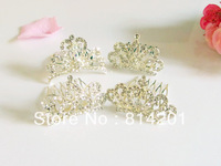 Free shipping wedding bridal crown tiara wholesale 4cm fashion hair comb 12pcs/lot