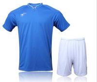 New Arrival Football kites Men soccer jersey set jersey blue white red