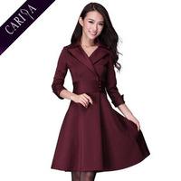 OSEXY XXXL Plus Size 2014 Fashion European Style Fall Winter High Quality Polyester Spandex Waist Wrap Big Sweep Womens Dress