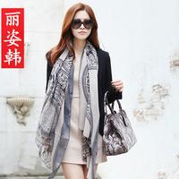 Free shippig Liz 2013 disc onta scarf ultralarge ultra long air conditioning cape beach silk scarf