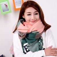 Free shippig Liz 2013 block plaid multicolour plaid thermal yarn scarf muffler scarf