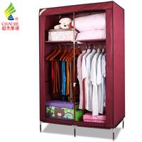 Chaojie simple wardrobe non-woven wardrobe steel pipe steelframe folding wardrobe combination wardrobe