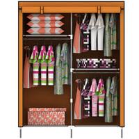 Simple wardrobe double wardrobe roller shutter double zipper folding wardrobe