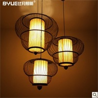 Chinese handmade lamp T8 lamps Japanese restaurant in Southeast Asia living bamboo chandelier 3013