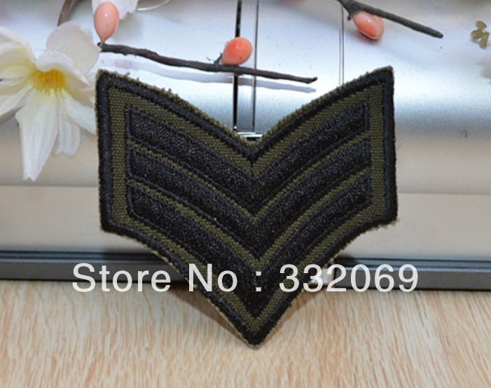 Factory wholesale cheap military designer embroidered custom armband badge t-shirt patches sewing diy Free shipping(China (Mainland))