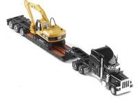 Peterbilt 389 flat bed E315c excavator model 55415