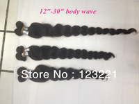 Free shipping!3pcs lot Unprocessed brazilian virgin hair Body wave, 5A grade 100% human hair, can color and bleach