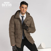 Binnib male coat medium-long down thickening 2013 down coat quinquagenarian commercial men's clothing down coat outerwear